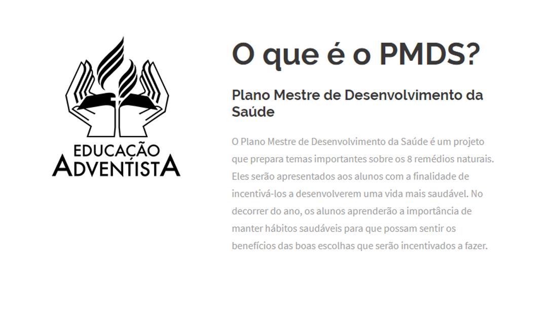 PMDS- Plano Mestre de Desenvolvimento da Saúde