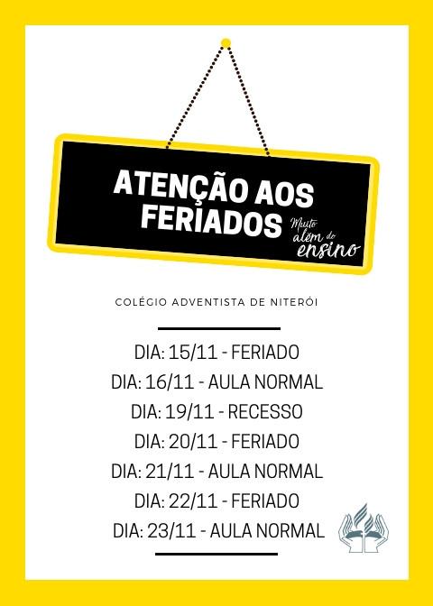 CEAN | ATENÇÃO AOS FERIADOS