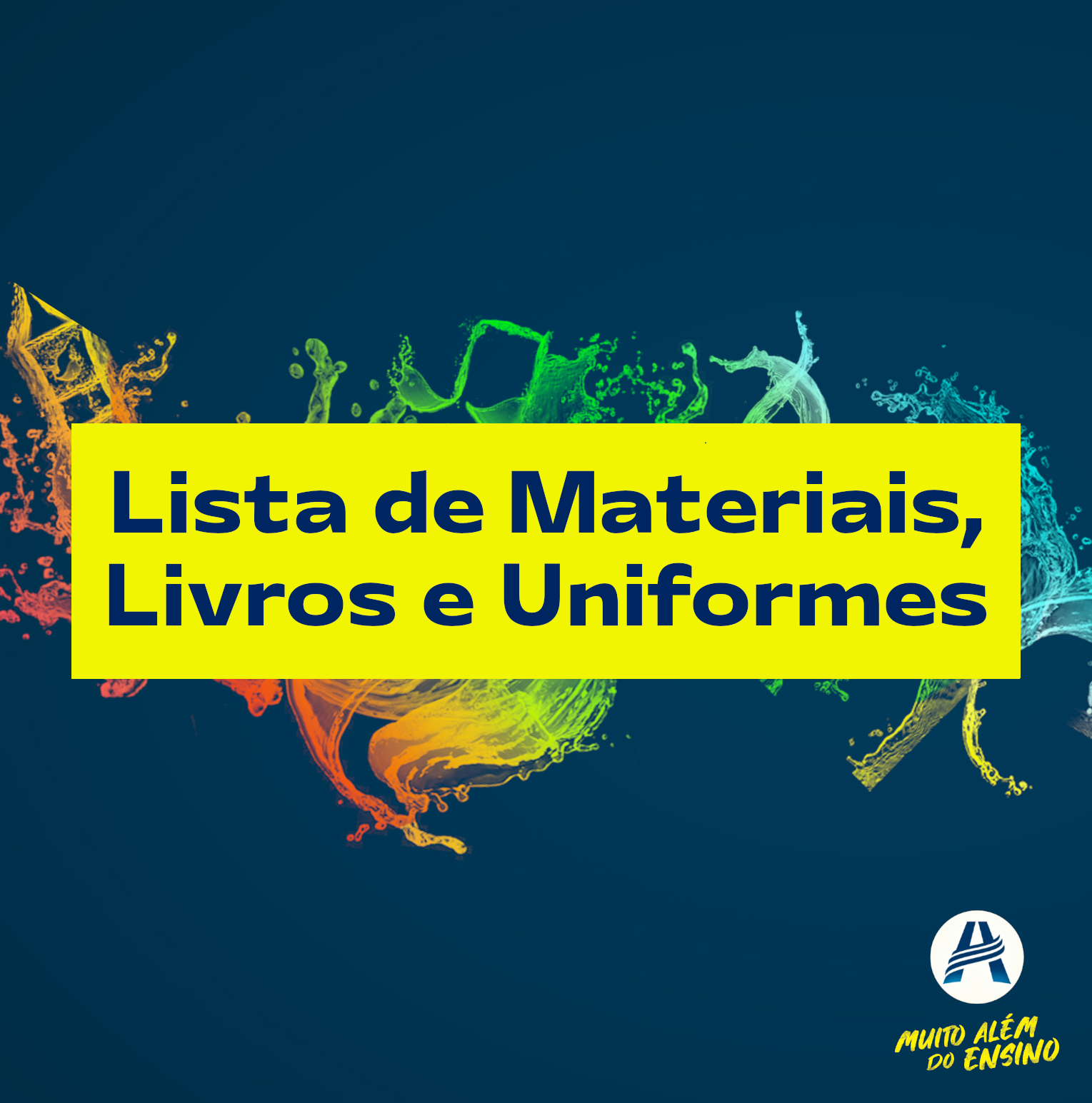 Lista de Materiais, Livros e Uniformes 2021