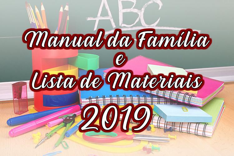 Manual da Família e Lista de Materiais