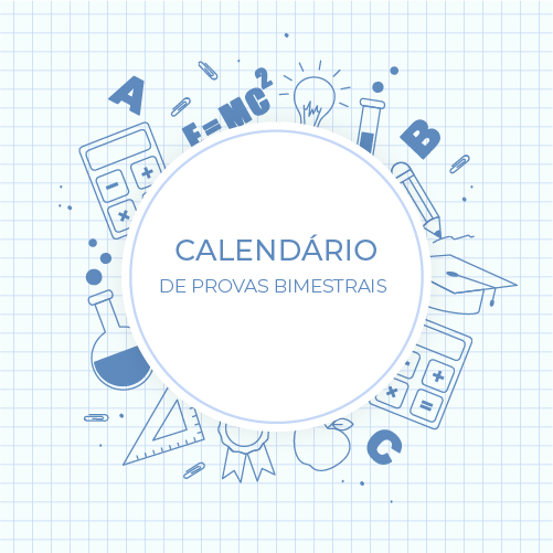 Calendário de Provas - 1º Bimestre 2020