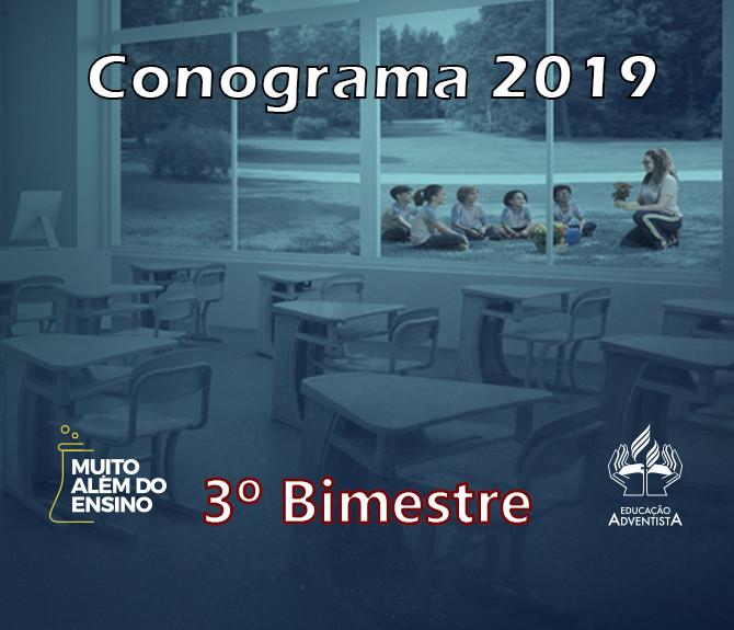 Conograma 2019 - 3º Bimestre