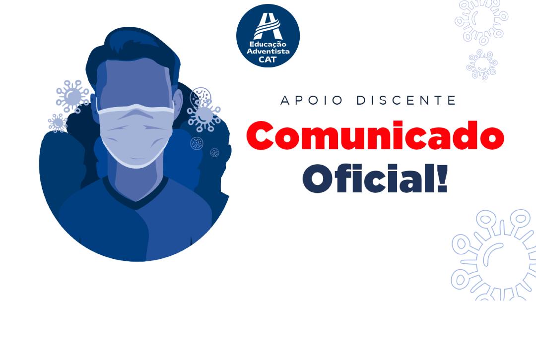 Comunicado Oficial - Suspensão de aulas e E-class