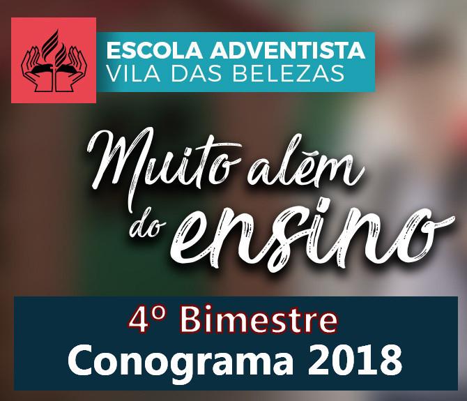Conograma 2018 - 4º Bimestre