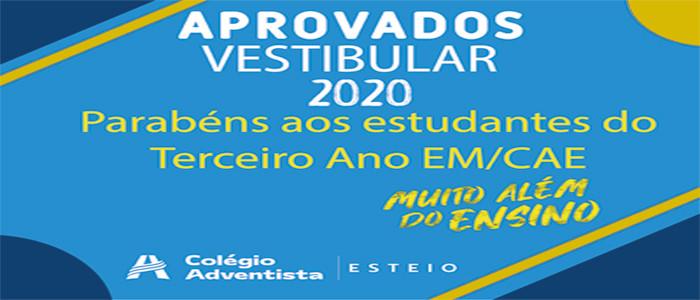 Aprovados Vestibulares 2020