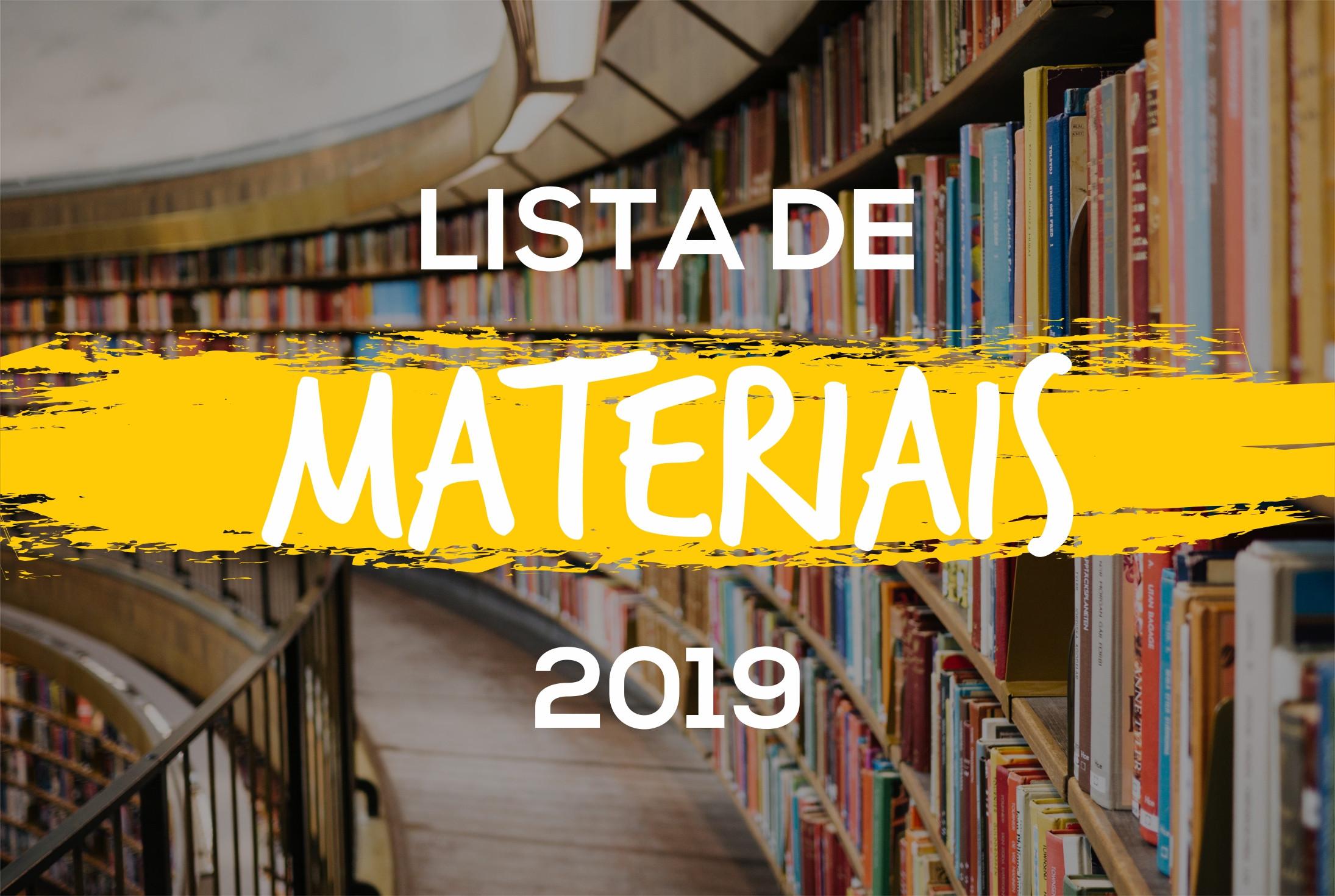 CEAN | LISTA DE MATERIAS 2019