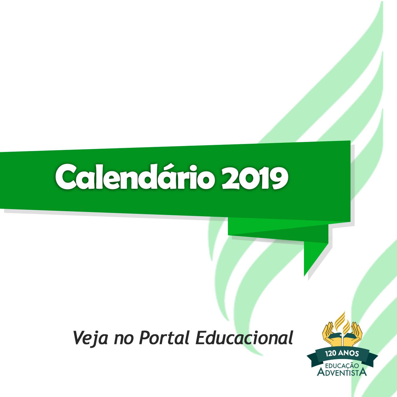 Calendário Letivo 2019