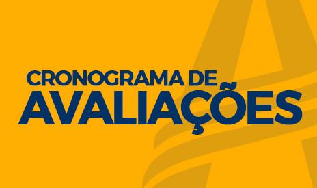 CRONOGRAMA DE AVALIAÇÕES