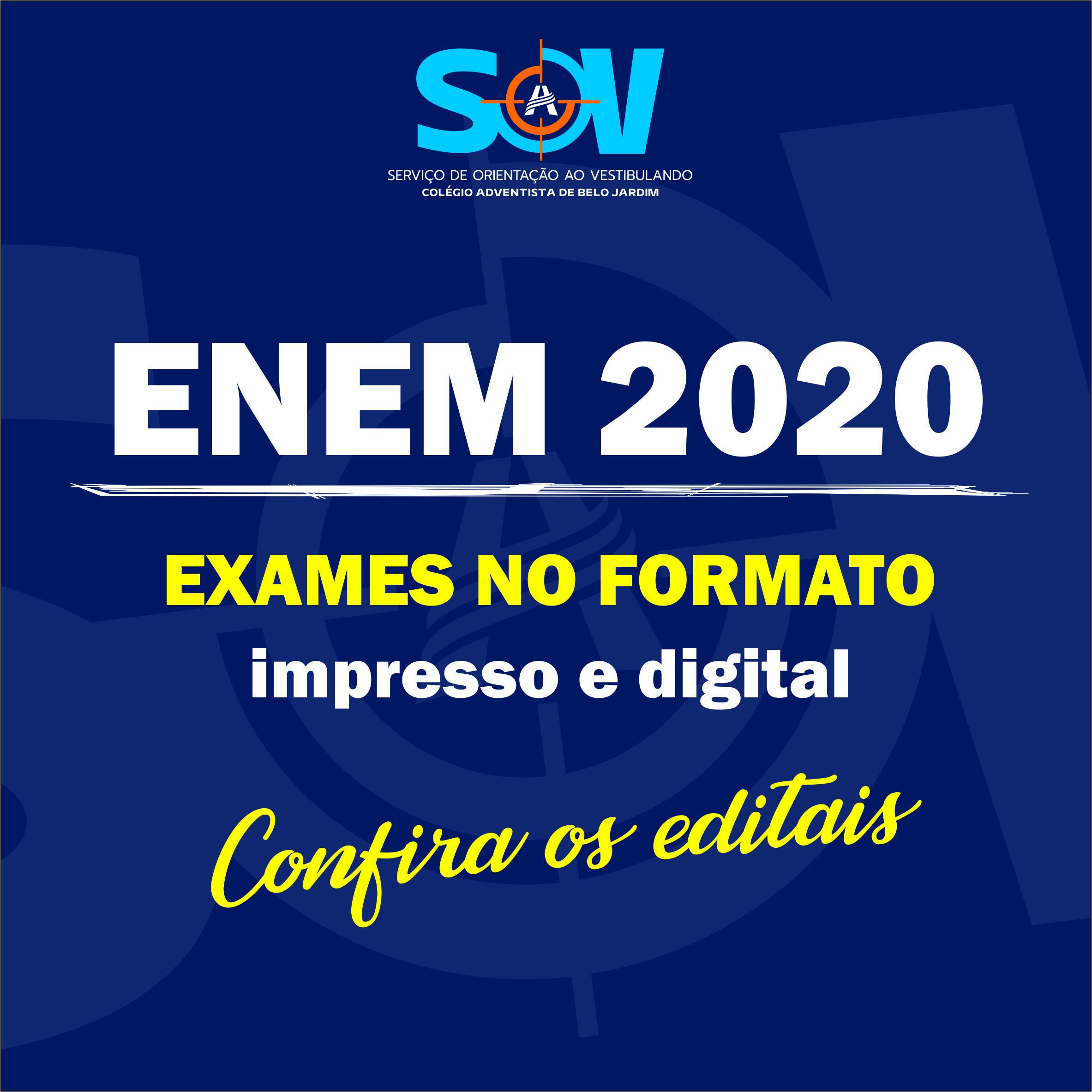 ENEM 2020 - Editais