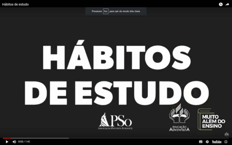 Hábitos de Estudos.